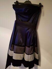 Coast dress size 10 Navy Blue. Worn once
