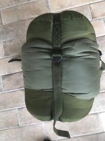 Military Cold weather sleeping bag and stuff sack.