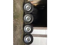 BMW Mini Cooper set of 4 winter wheels and tyres