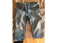Boys polo ripped jeans