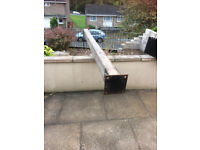 6x4 timber posts with brackets