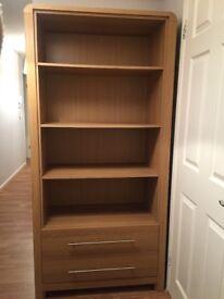 Oak Living Room Furniture - Display Unit and TV Cabinet