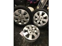 set of 4 corsa c alloys