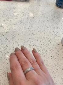 1/2 carat sterling silver ring