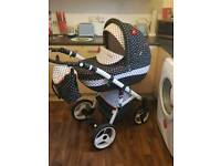Gorgeous polka dot pram