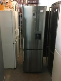 SAMSUNG STAINLESS STEEL FRIDGE FREEZER WITH WATER DISPENSER