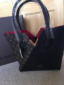 Louis Vuitton KIMONO bag half letter half Black