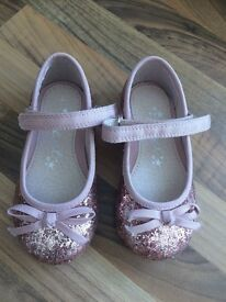 Next Girls pink glitter shoes infant size 4