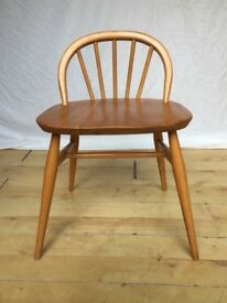 Vintage 1960s rare Ercol 414 dressing chair table stool