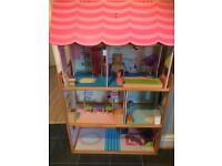 Dolls house and furniture 60.00