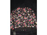 Girls Flower jacket by Bluezoo (Debenhams) Age 8-9