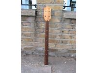 Fretless bass neck no hardware, for spares or repair or own project