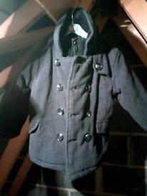 Boys gray smart coat