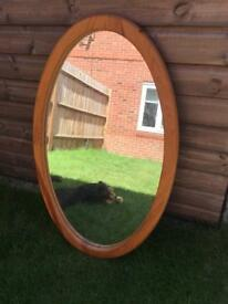 Oval Pine Mirror