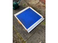 Wheelchair Ramp, no fold, with Blue Grip Surface, 3ft long