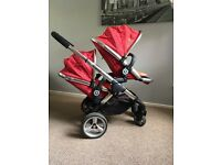 ICandy peach blossom double pram - brand new handle from John Lewis