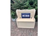 Painted pine storage seat/bench