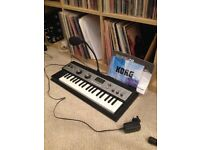 Korg Microkorg XL virtually unused with manual, mic, case and box.
