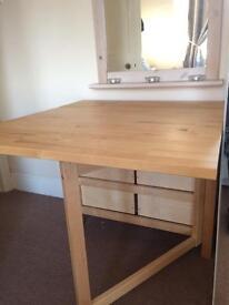 Ikea drop leaf pine table