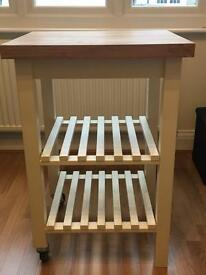 BRAND NEW. White kitchen trolley.