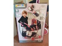 Hauck Julia Dolls Pram/Pushchair , Classic Navy & Pink