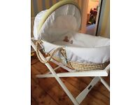Mamas and papas Moses basket and delux stand
