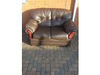 Sofa leather two seater Can deliver