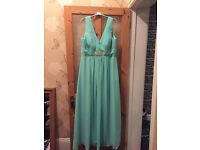 Mint green bridesmaid dress size 18 new
