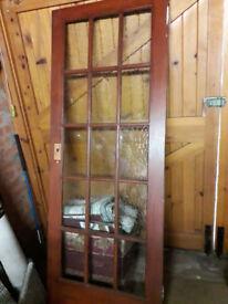 internal fully glazed door