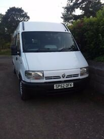 Renault Master Minibus Wheelchair accessible 2.5m Portaramp and electric sidestep