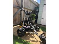 Powacaddy electric golf trolley and extras