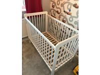 Free John Lewis Eric Cot - white excellent clean condition