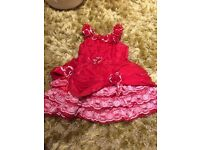 Baby girl Party Red dress