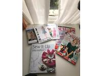 Sewing patterns, book and magazines