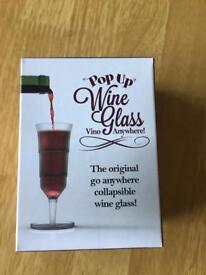 Pop up wine glass - ideal for festivals