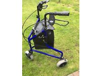 DAYS. Lightweight Aluminium Tri / 3 Wheel Walker Mobility Aid.