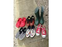 Boys trainers and football boot bundle