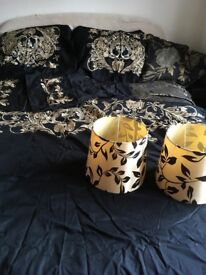 Dorma king size duvet cover with 4 pillowcases
