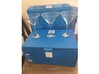 Brand new in box Martini glasses (6 in each box)