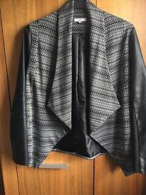 New Look waterfall leather style jacket size 14
