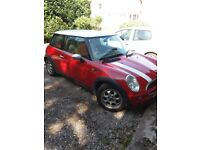 mini one red lovely car good condition