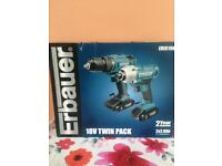 **SOLD** Erbauer 18V twin pack £80