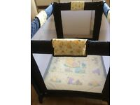 Winnie the pooh travel cot / play pen