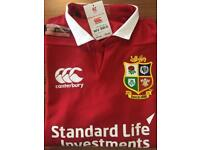 British & Irish Lions Match Day Pro Short Sleeve Canterbury Playing Rugby Shirt