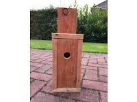 Hand made wooden bird box