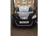 2012 12 Peugeot 308 Active 1.6HDI Black Diesel Damaged Salvage Repairable