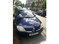 NISSAN PRIMERA S, 1.8 PETROL, BLUE, 5 DOOR HATCHBACK 2006, MOT MARCH 2017