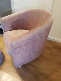 Tub chair with matching beanbag