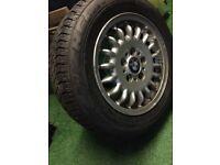 BMW 15 Inch Alloy Wheel & 205 60 15 Brand New Michelin Tyre