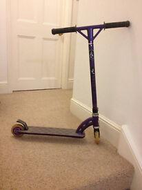 MGP team edition scooter, purple, comes with custom grips, metal core wheels, bone red bearings.
